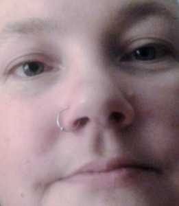 My beautifully pierced nose.