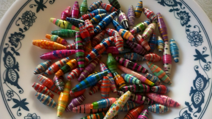 Homemade Paper beads