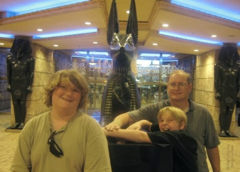 Visiting Las Vegas.
