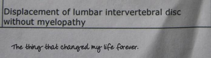 My life sentence.